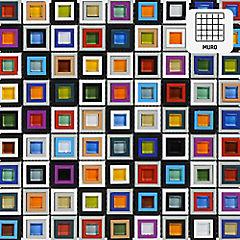 Malla 30x30 cm Crisyal/plástico multicolor