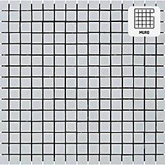 Malla vidrio 32,7x32,7 cm blanco Polar