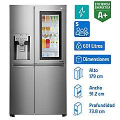 Refrigerador side by side 601 litros gris