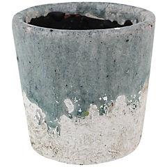 Macetero ceramica 10 x 10.5 cm, colores surtidos