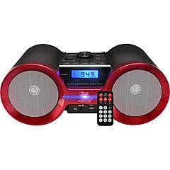 Radio Recar bt/msd/sd/usb/fm/negro-rojo