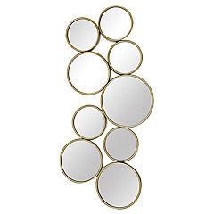 Espejo dorado circulos 47x92 cm