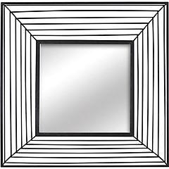 Espejo cuadrado metálico negro 80 cm