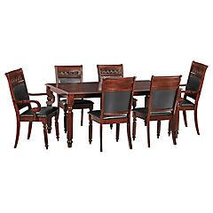 Juego de comedor Cordobes 4 sillas y 2 sitiales 180x106 cm