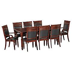 Juego de comedor Cordobes 6 sillas y 2 sitiales 180x106x76 cm