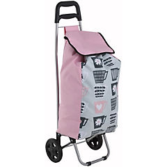 Carro feria con ruedas Tazas rosado