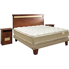 Box Europeo 2 Plazas Base Normal + Muebles Bamboo