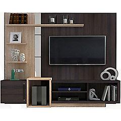 Rack de TV 128x45x62 cm varval/negro