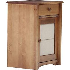 Velador 1 cajón 1 puerta 36x38x48 café/beige