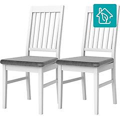 Set 2 silla 48x58x102 gris