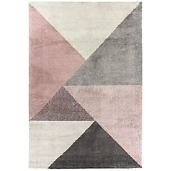 Alfombra Triángulos retro 160x230 cm