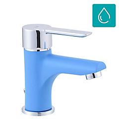 Grifo lavatorio azul