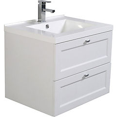 Kit mueble vanitorio 65 cm blanco