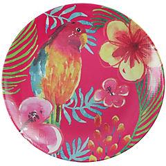 Plato melamina 25cm rosado