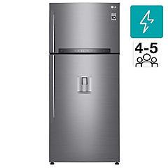 Refrigerador no frost top mount freezer 509 litros gris