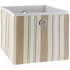Caja de tela 30x30x26 cm mostaza/beige