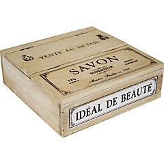 Caja beaute madera 21x21x7 cm