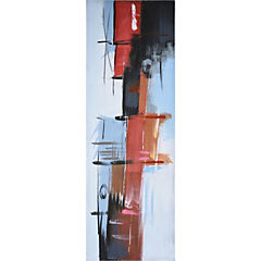 Oleo abstracto cubos 120x40 cm