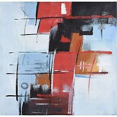 oleo abstracto azul 80x80 cm