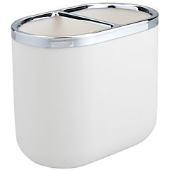 Portacepillo junip blanco/metal