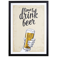 Cuadro Enmarcado Drink Beer 50x35 cm