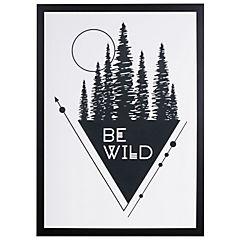 Cuadro Enmarcado Be Wild 50x35 cm