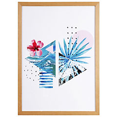 Cuadro Enmarcado Tropical II 50x35 cm