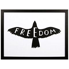Cuadro Enmarcado Freedom 40x30 cm
