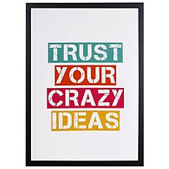 Cuadro Enmarcado Crazy Ideas 50x35 cm