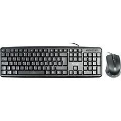 Kit teclado y mouse alámbrico USB negro