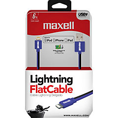 Cable Ligtning Flat Mfi Alta Velocidad 1,8M Negro/Azul