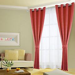 Combo cortinas y velos Martina 140x220 cm rojo