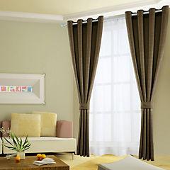 Combo cortinas y velos Martina 140x220 cm chocolate