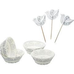 Set moldes de papel + adornos silver 48 uds. sweetly does it