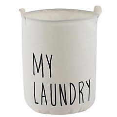 Cesto ropa plegable tela 35x45 blanco