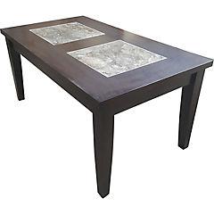 Mesa de centro color wenge, estructura y cubierta madera roberwood