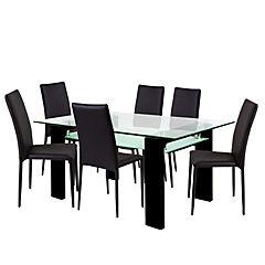 Comedor 160x97 cms MDF color negro