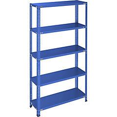 Estantería azul 5 bandejas  90x40x200 cm
