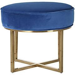 Pouff velvet 50x50x42 azul