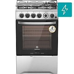 Cocina a gas 4 quemadores 66 litros gris