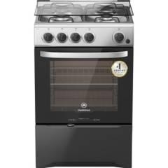 MADEMSA - Cocina a gas 4 platos 66 litros negro
