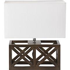 Lámpara mesa tipo madera 60 W