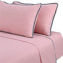 Sábana jersey rosa 1,5 plazas