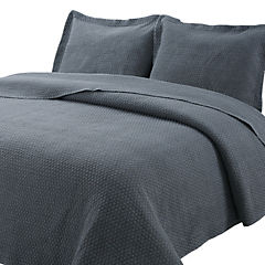 Quilt Stonewash gris 1,5 plazas