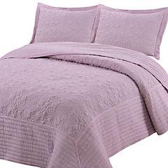 Quilt Portugal Linen rosa 1,5 plazas