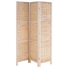 Separador de ambientes madera - mimbre natural 170 cm