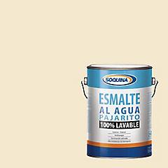 Esmalte al  agua pajarito blanco hueso gl