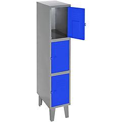 Lockers metálico 1 cuerpo 3 puertas color azul