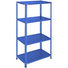 Estantería azul 4 bandejas 90x60x200 cm