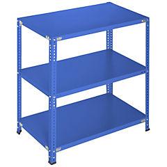 Estantería azul 3 bandejas 90x60x100 cm